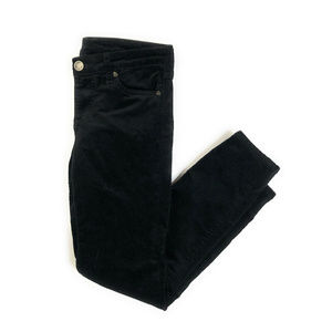 Kut From The Kloth Diana Black Skinny Cords Size 6